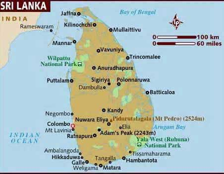 map of sri lanka retirement services international country why retire overseas why retire in Sri Lanka